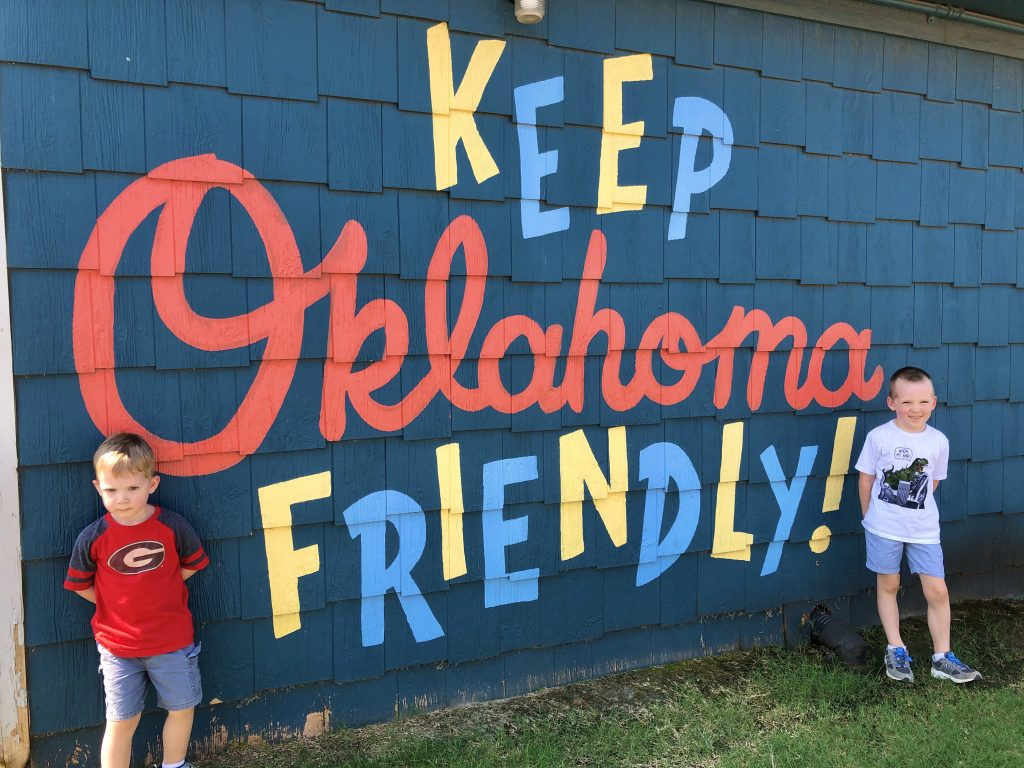 Keep Oklahoma Friendly mural