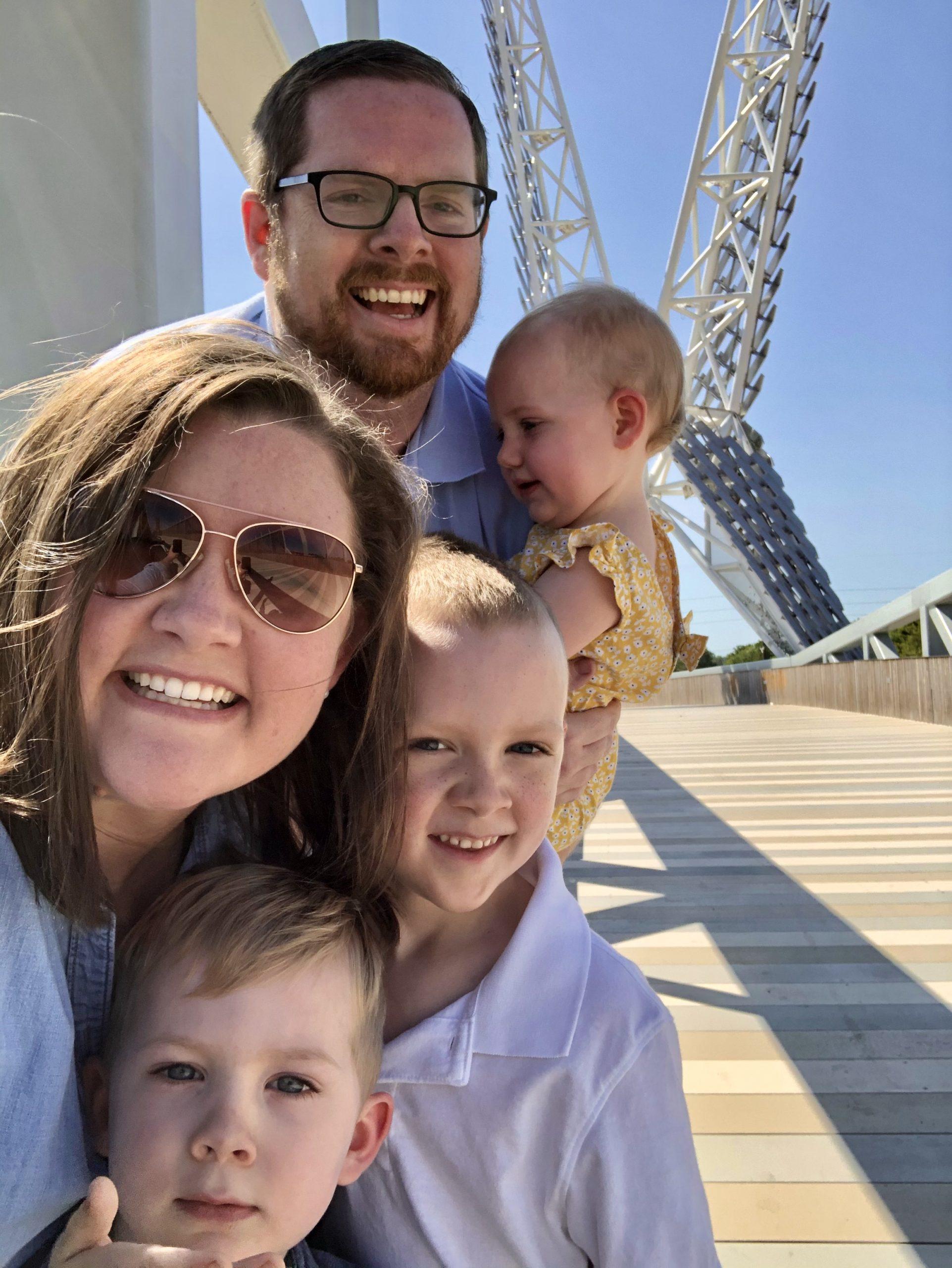Selfie at Skydance Bridge in OKC