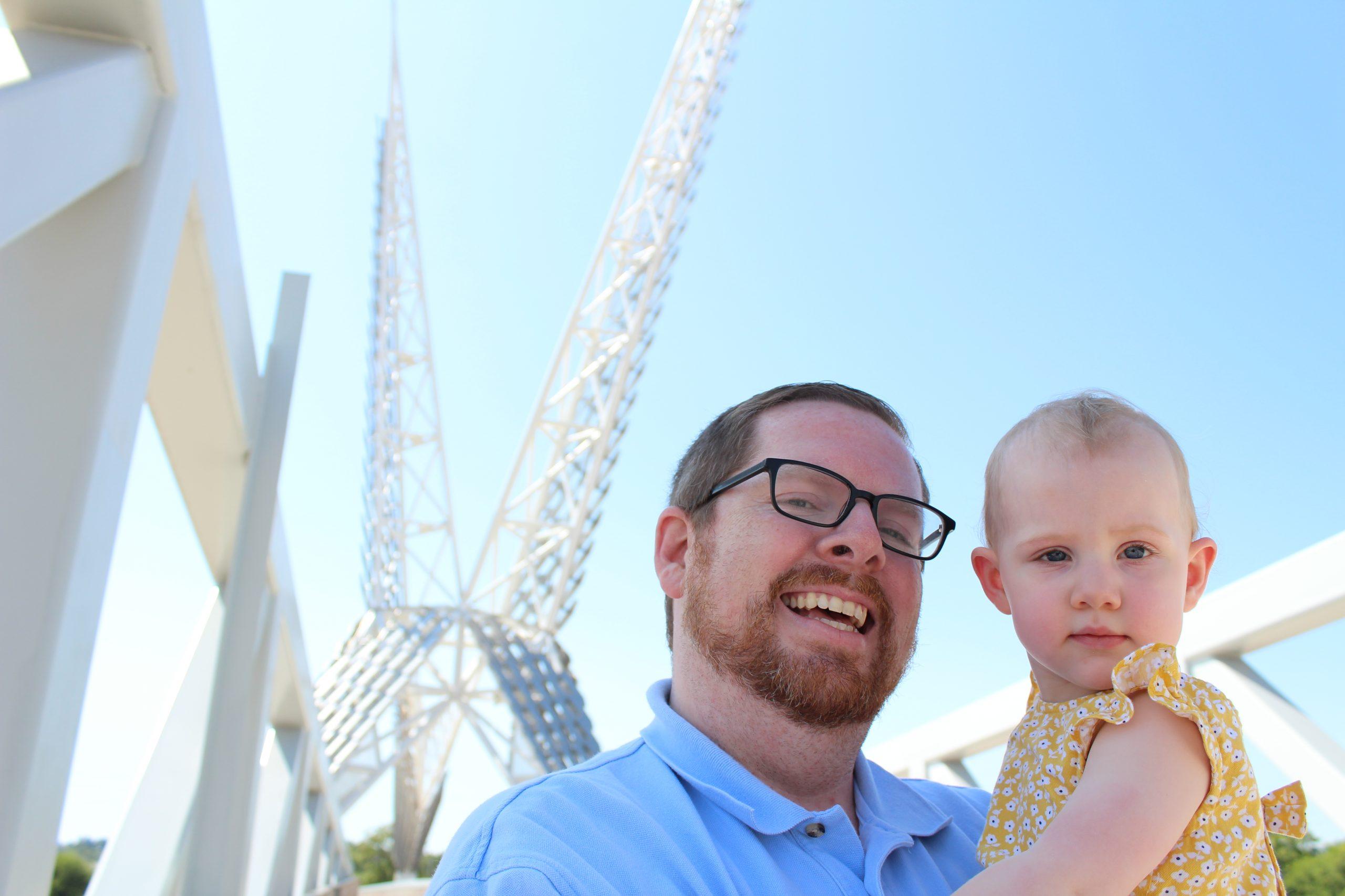 Best Family Photo Locations Around OKC - Skydance Bridge